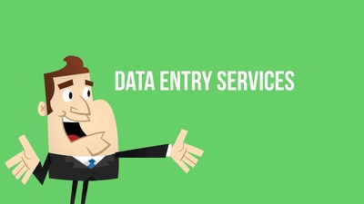 Provide Data entry services for 1 hour