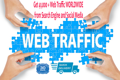 ***Unique  41,000 + Web Traffic WORLDWIDE from Search Engine and Social Media ***