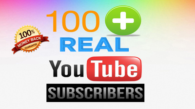 ***100+ YouTube subscribers, Non-drop, all real human, active, opt-in subscribers ***