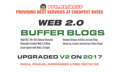 10 Web 2,0 Buffer Blog Properties With Login, Contextual Backlinks