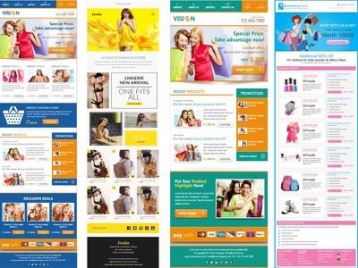 Design Editable Responsive HTML Email Template,Newsletter