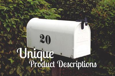 Write up to 20 Unique Product Descriptions