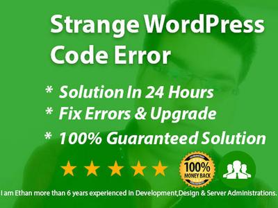 Fix Strange Wordpress Code Errors