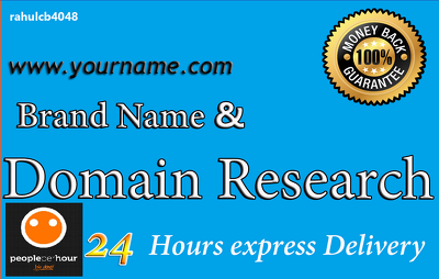 Research easy brand and domain name