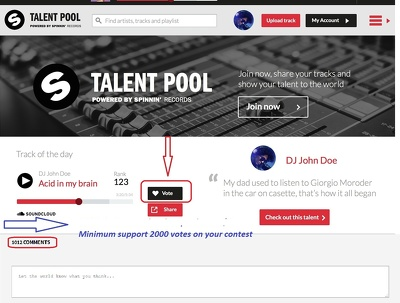 I Will 250 Spinning Records Talent Pool Votes On Your Spinning Records