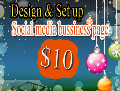 Design and set up social media bussiness page