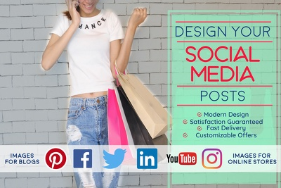 Design you engaging social media images and blog images