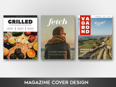 Create a stunning magazine/brochure front cover design
