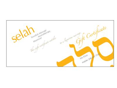 Design a Gift certificate