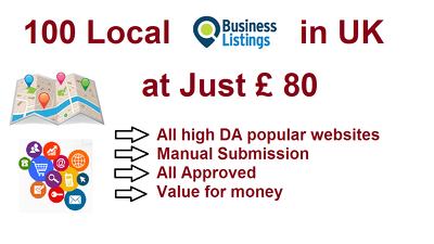 Get 100 High DA Local Business Citations - UK Directories