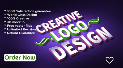 Design a creative logo with 3 concept and unlimited revision
