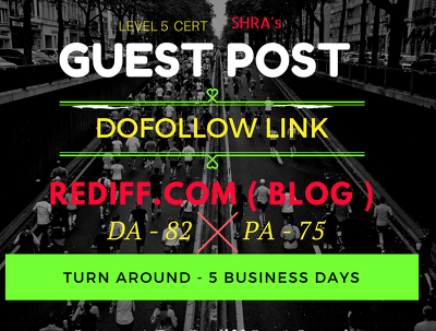 Guest Blog with Dofollow Link in Rediff Blog DA 82 and PA 75 in 5 Days