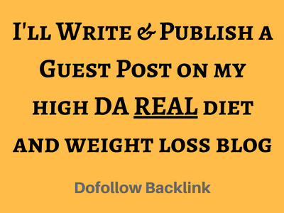 Write and publish a guest post on wisejug.com, a diet/weight loss blog (DA 40)