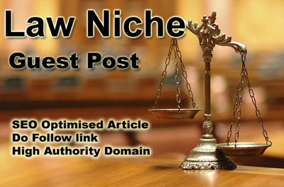 Write and Guest Post on Law Blog to help you in SEO ranking