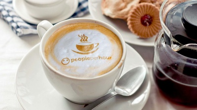 Write A Short Message Or Place Logo In Froth Of A Coffee Cup