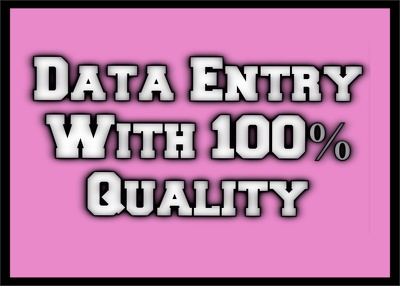 Do 2 hours of data entry and deliver in same day