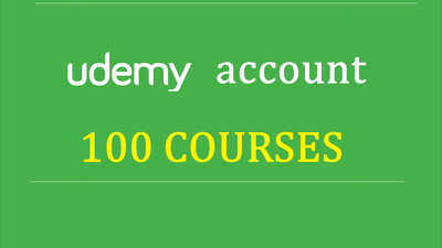 Give You An Udemy Acount With 100 Courses