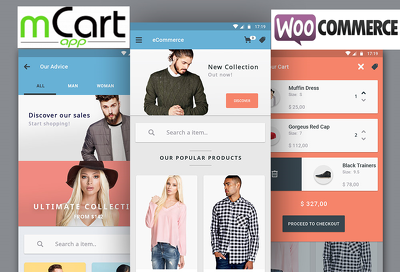 Build Native Woocommerce Android App with source code