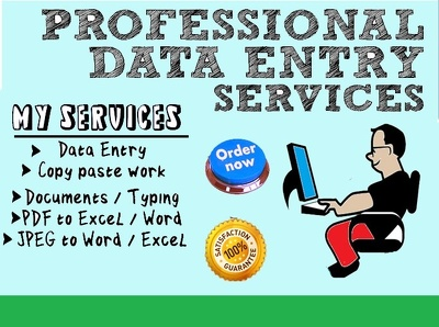 Do all kinds of data entry for 6 hours