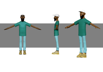 Create a 3D character model of you, or someone.
