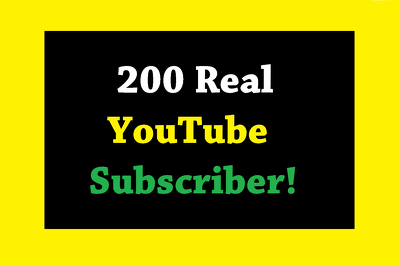 Real 200 YouTube channel Subscribers