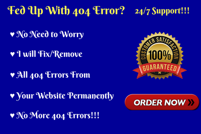 Do 301 Redirect For 404 Error Urls On Wordpress Website