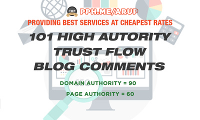 Do 101 High Quality Dofollow Blog Comments Backlinks