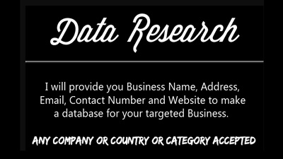 500 data Internet recearch and find out contacts, emails, website, fax etc