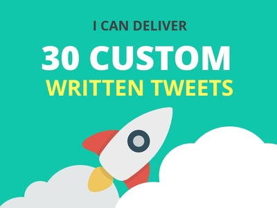 Give you 30 Tweets Monthly delivered in a word document tailored to your business