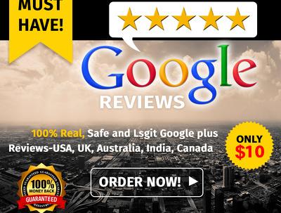 Give You 10 Positive Google Reviews In One Day