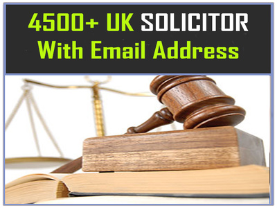 Provide you 4500 plus UK SOLICITOR Contact/email list