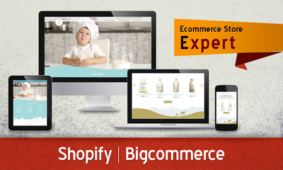 Design & customize your SEO friendly Shopify / Bigcommerce store