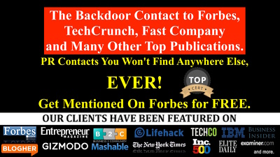 The Backdoor PR Contact to Forbes, TechCrunch, Fast Company