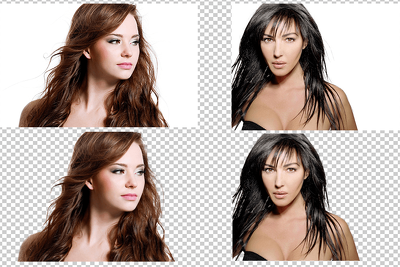 Hair Mask with Remove Background for 7 Images