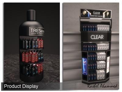 Make 3D Product Display Stand, Tabletop, Hanger Display