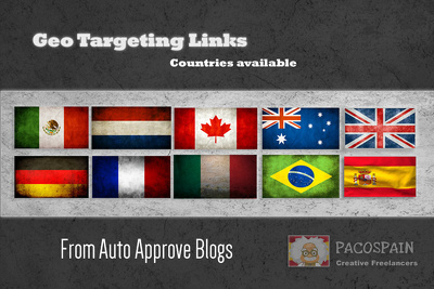 Create backlinks, exclusively on country specific domains