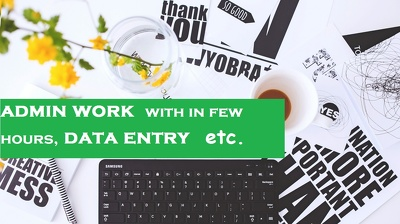 Do Data Entry work in a Short time period