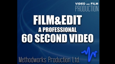 Film and edit a professional 60 second promotional video