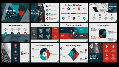 Design 10 slide customised and powerful powerpoint presentation