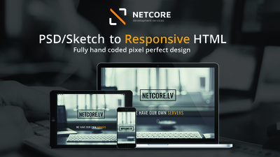 Create 1 responsive html/css page from your design