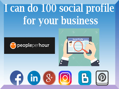 Do 100 social profile for Your Business