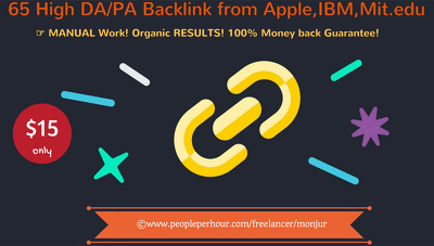 Manually create 65 Extremely Powerful Backlinks from Apple, IBM, Mit.edu