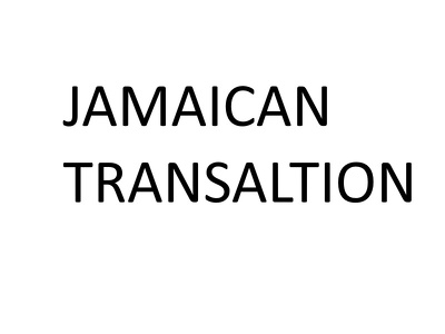 Translate Jamaican songs or anything written in the dialect