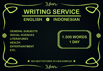 Provide English/Indonesian Writing based on your keywords