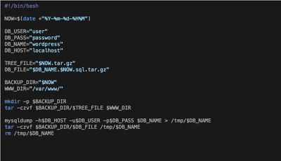 Setup daily Wordpress backup using crontab. (website files + database).