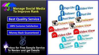 Manage Your Social Media, Real & Active user Guaranteed