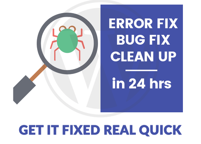 Fix Wordpress Bugs/Errors/Issues - Within 24 Hours
