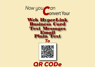 Convert any data for you into QR CODE