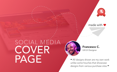 Facebook and Twitter cover page + Profile picture