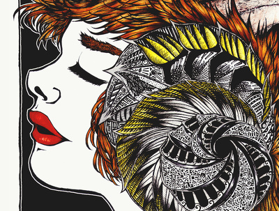 Draw you a highly detailed art nouveau inspired illustration